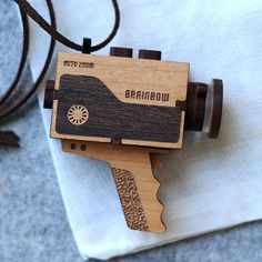 Super 8 Video Camera Necklace by bRainbowshop on Etsy, $78.00