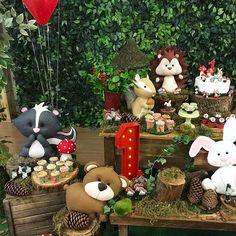 Hoje é dia de festa na floresta!!! #festaflorestaencantada #festabosque #festabichinhosdafloresta