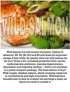 Wild Salmon goodness! Foods For Brain Health, Brain Food, Cognitive Problems, Chocolate Trifle, Protein Sources, Vitamin D, Superfoods, Salmon, Beef