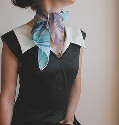 hand painted silk neckerchief