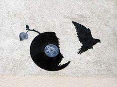 Kesa Vinyl Silhouettes Capture Birds and Bats in Flights of Freedom #design #creativity trendhunter.com