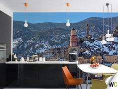 Wall mural of the French Alps