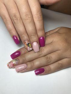 Unghii patrate nude+fucsia Summer Nails, Nail Art, Summery Nails, Nail Arts, Summer Nail Art, Art Nails, Summer Toenails