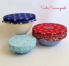 Easy Crafts To Make and Sell - Vintage Bandana Bowl Covers - Cool Homemade Craft Projects You Can Sell On Etsy, at Craft Fairs, Online and in Stores. Quick and Cheap DIY Ideas that Adults and Even Teens Can Make http://diyjoy.com/easy-crafts-to-make-and-sell