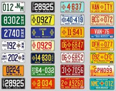 Current State License Plates