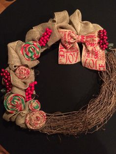 My first Christmas wreath.