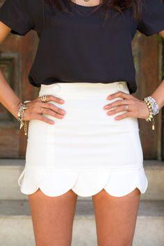 Scalloped skirt!