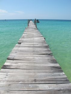 Secret paradise Island; Koh Rong Samloem in Cambodia ...the rickety jetty that brings in island supplies once a day.