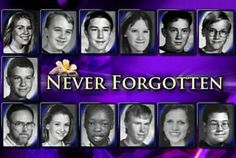 Never forgotten. April 2014 marks the anniversary of the massacre at Columbine High School. The killers are still more famous than the victims. Columbine High School Shooting, Columbine High School Massacre, Do You Remember, Always Remember, Never Forget, Rachels Challenge, Rachel Scott, Natural Born Killers, Secondary Source