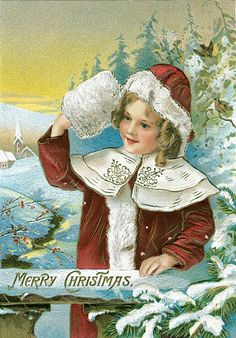 Коллекция картинок: Винтажные рождественские и новогодние открытки 3