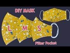 Small Sewing Projects, Sewing Hacks, Sewing Tutorials, Sewing Crafts, Easy Face Masks, Diy Face Mask, Pattern Sewing, Sewing Patterns Free, Sewing Courses