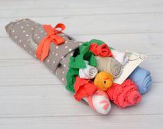 Arrangement de fleurs de bébé cadeau de fleur de par babyblossomco