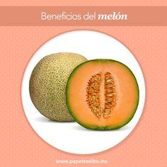 ¡Descubre los beneficios del melón!  Sin duda, son pocos los alimentos que pueden igualar su bajo contenido en calorías, ya que está compuesto por agua en un 90%.  Por esta razón tiene una gran capacidad refrescante y al ser incluido regularmente en una dieta, el melón puede ayudar a la pérdida de peso debido a que es también un diurético natural que además produce saciedad por su fibra. El melón es muy desintoxicante gracias a su gran cantidad de vitaminas y minerales.