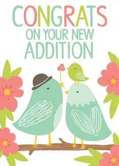 New Addition Card | Little Paper Planes