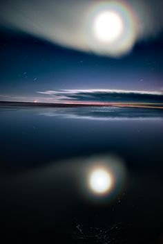 Rainbow Moon, by Val West, on flickr. (It's going to be a cold night tonight)
