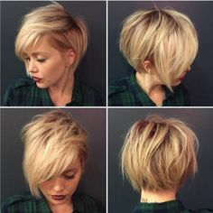 Easy, Everyday Hairstyles for Women Short Hair - Shaggy, Blonde Short Hairstyle