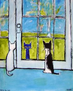 are-you-lookin-at-me_l Pete the Cat print by James Dean Illustrations, Illustration Art, Gatos Cats, Cat Character, Cat Drawing, Cat Love, Crazy Cats, Cool Cats, Cat Art