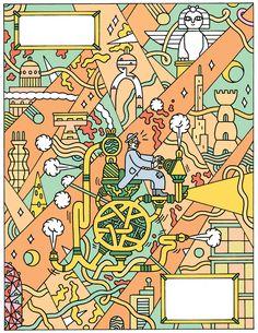 Time Machine by Matthew Houston, via Behance #vectorillustration