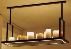 Hanglamp design landelijk LED wit of brons 16 kaarsen 160cm