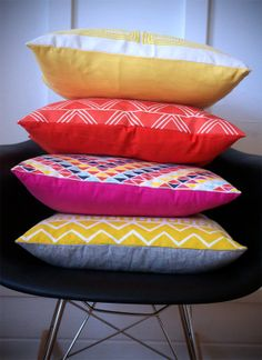 Set of 4 pillow covers by shapescolors, $160.00