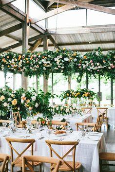 garden wedding receptions - photo by Love Katie and Sarah http://ruffledblog.com/modern-summer-wedding-in-the-yarra-valley