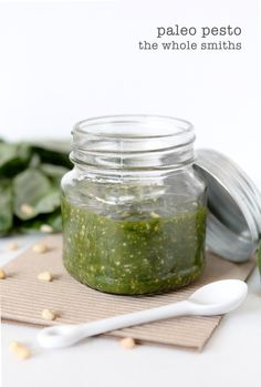 Perfect Paleo Pesto from the Whole Smiths. Dairy-free and tastes like the real deal. You won't believe what the secret ingredient is! compliant as well. Kids Cooking Recipes, Paleo Recipes, Real Food Recipes, Free Recipes, Yummy Recipes, Sauce Recipes, Vitamix Recipes, Paleo Pesto, Pesto Recipe