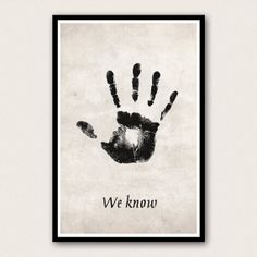 Skyrim Poster - The Dark Brotherhood Mysterious Note - We Know on Etsy, $18.00