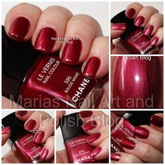 Marias Nail Art and Polish Blog: Chanel Rouge Moire 595 swatches