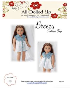 "American Girl doll clothes patterns. Patterns for 18"" doll clothes."