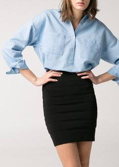 Linen-blend oversize shirt