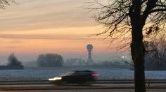 Morning on Okęcie airport -Warsaw, Poland