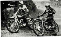 Dave Bickers passing Carl Anderson of Norway, 1962 250 GP Glastonbury