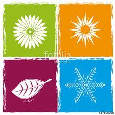 Vektor: Four color seasons