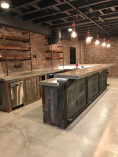Can you see yourself behind, or in front, of this industrial bar? https://www.arnoldmasonryandlandscape.com/service-areas/ #Custom #Basement #Contractor #Atlanta #Georgia #Custom_Basement_Contractor_Atlanta_Georgia #CustomBasementContractorAtlantaGeorgia
