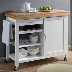 Found on Pinterest.  We Love Kitchen Carts, too!  Choose from nearly one hundred different Kitchen Carts for meet your needs at ButcherBlockCo.