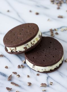 Andes Mint Chip Ice Cream Sandwiches