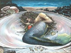 My ultimate favorite mermaid picture by Erick Murray. If I could have afforded to buy it , It would have been mine!