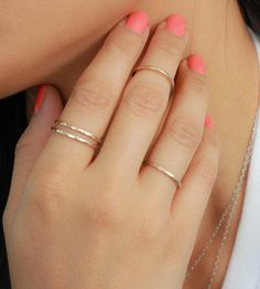Band Ring | Upper Metal Class. I want a simple gold ring like these so bad!