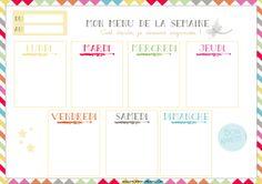 Mommy Dream: [PRINTABLE] Mon menu de la semaine