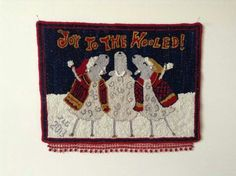 """Silly Christmas Sheep Carolers, """"Joy to the Wooled, the Lord has Come....""""."""
