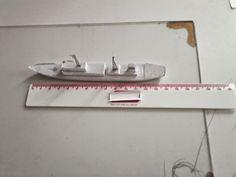 De cartolina: Micro modelo de um navio