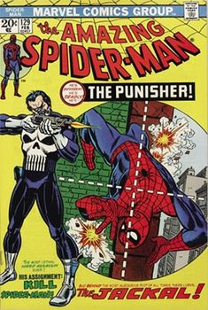 Origin and First Appearance, the Punisher, Amazing Spider Man #129, Marvel Comics, 1974. Click for value