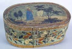 Early 19th Century painted brides box.