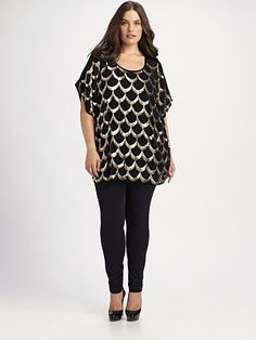 Gorgeous plus sized piece. Love the design. Great belted or over leggings.