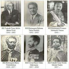 Historical Photos:- Ethiopian Foreign Ministers from 1907 - 1989.