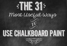 Useful And Creative Ways To Use Chalkboard Paint