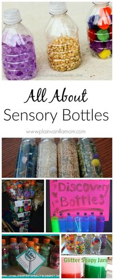 All About Sensory Bottles I think I'm going to have to start doing this!
