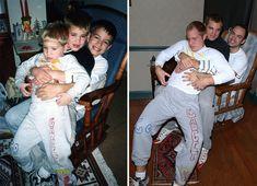 Découvrez les photos de trois frères qui ont recréer leurs photos d'enfance ! #photographie