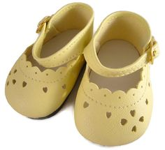 Yellow Mary Jane Shoes for Bitty Baby Dolls