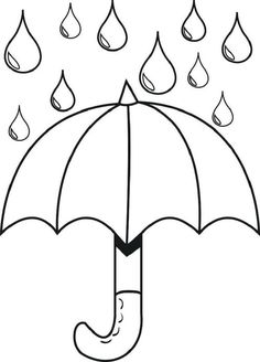 Umbrella with Raindrops – Spring Coloring Page More Make your world more colorful with free printable coloring pages from italks. Our free coloring pages for adults and kids. Spring Coloring Pages, Colouring Pages, Coloring Sheets, Free Coloring, Coloring Book, Preschool Coloring Pages, Printable Coloring Pages, Coloring Pages For Kids, Kids Coloring